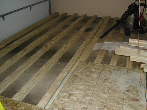 Figure 3 Laying 4 Subfloor Material Over Sleepers Yields A Level Smooth Sy  Comfortable And Hopefully