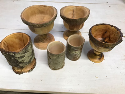 Turning Goblets from a Tree