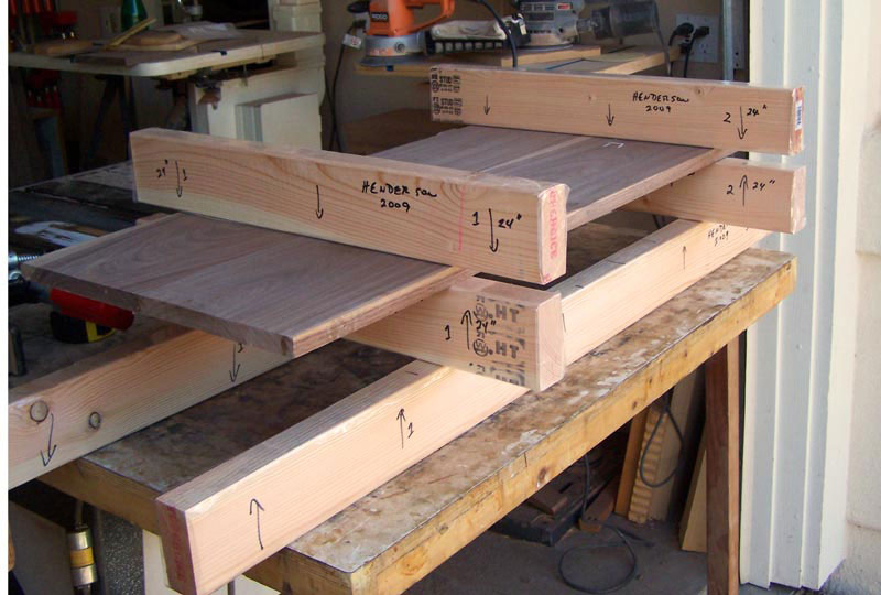 Place the panel boards on top of the cauls
