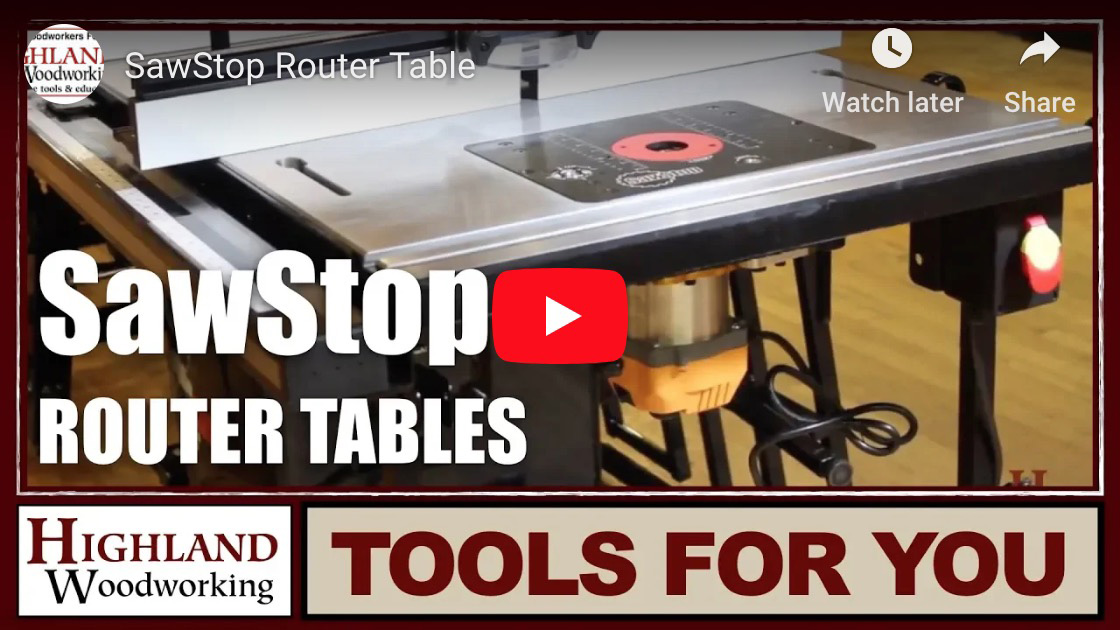 SawStop Router Tabless