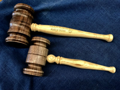 Threaded-Handle Ceremonial Gavel